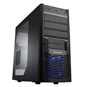 Cooler Master Elite 430 - Mid Tower Computer Case with All-Black Interior and Windowed Side Panel