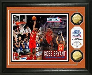 NBA Los Angeles Lakers Kobe Bryant 2011 All-Star Game MVP 24KT Gold Coin Photo Mint