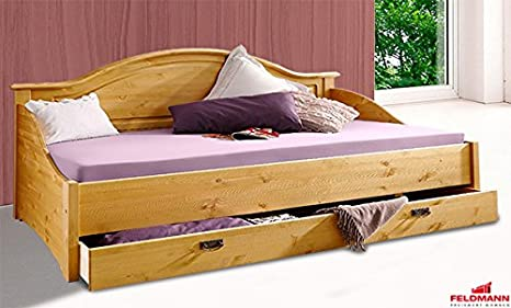 Tagesbett Bett mit Schublade 719101 Kiefer Massiv Natur 90x200cm