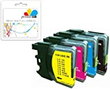Premier Ink 4 Xl Compatible Ink Cartridges To Brother Lc1100 Lc 1100 Lc980 Lc 980 (1X Black & Ea. 1X Cyan Magenta Yellow) Lc1100Bk Lc1100Y Lc1100C Lc1100M Lc980Bk Lc980Y Lc980C Lc980M For The Brother Mfc-250C Mfc-255Cw Mfc-290C Mfc-295Cn Mfc-297C Mfc-490