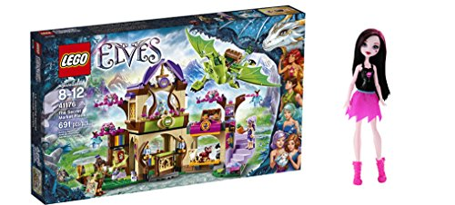LEGO Elves The Secret Market Place 691 Pcs & free Gifts Ghoul Spirit Draculaura Doll (Colors may vary) Toys (Lego Star Wars Characters Package compare prices)