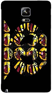 Timpax protective Armor Hard Bumper Back Case Cover. Multicolor printed on 3 Dimensional case with latest & finest graphic design art. Compatible with Samsung Galaxy Note 4 Design No : TDZ-26143