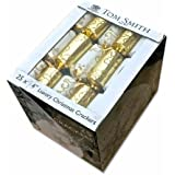 """Tom Smith Luxury Christmas Crackers Box 25 large 14"""" Gold and (Silver)"""