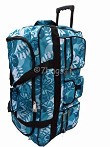 Wheeled Holdall 30 inch Floral Luggage Bag on Wheels 605FJade