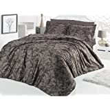 Bed Linen 240 x 220 80 x 80 CM Cotton Satin Calligra New
