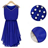 Women's Fashion Slim Rhinestone Beading Chiffon Dress Hollow Out Shoulder V-Neck Pleated Flounced Mini Dress