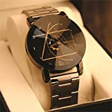 #2: Chocozone Stainless Steel Beautiful Black Dial Analog Girls Women Watch (Women Size)