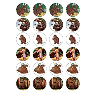 The Gruffalo style 24 Edible Wafer Paper Fairy/Cup Cake Toppers on an A4 sheet - Birthday Cake and Party Idea