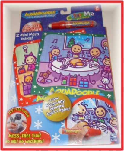 Buy Aquadoodle Color Me Mini Mats Special Holiday Edition