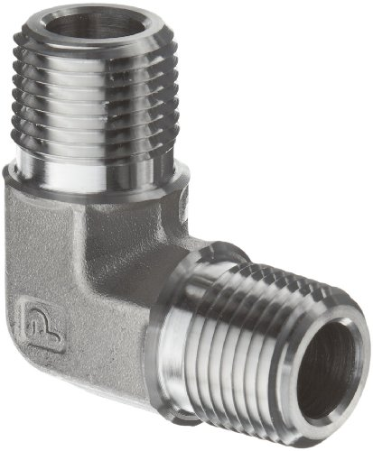 Parker Stainless Steel 316 Pipe Fitting90 Degree ElbowNPT Male X NPT Male stainless steel fittings pipe