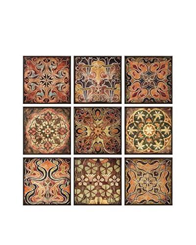 Set Of 9 Tuscan Wall Panels, Multi