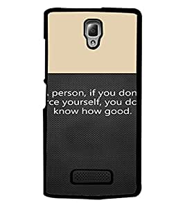 PrintDhaba Quote D-4719 Back Case Cover for LENOVO A2010 (Multi-Coloured)