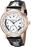 Frederique Constant Worldtimer Automatic Silver Dial Rose Gold-plated Mens Watch FC-718MC4H4