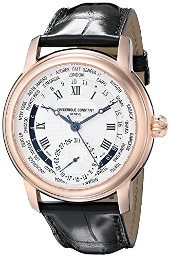 Frederique Constant Men'S Fc718Mc4H4 World Timer Analog Display Swiss Automatic Black Watch