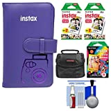 Fujifilm Instax Mini Wallet 108 Photo Album (Grape) with 40 Color Prints & 10 Rainbow Prints + Case + Kit for 7S, 8, 25, 50S, 90 Cameras
