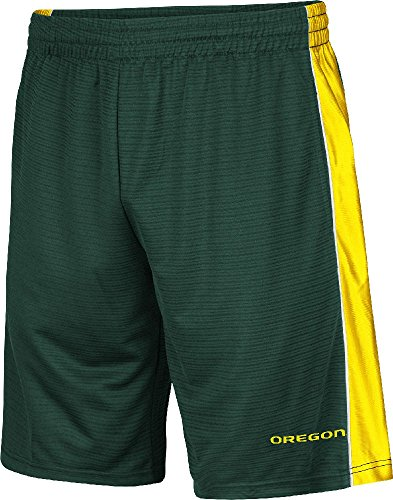 Oregon Ducks Mens Green Synthetic Layup 2 Shorts by