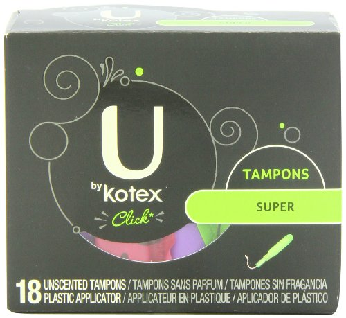 U by Kotex Click Super Absorbency Tampons-18 ct (036000159509)