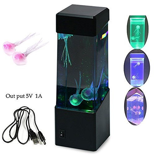 CALOVER® Jellyfish Lamp electric jellyfish tank Aquarium -color Changing mood lamp for home decoration magic lamp for gift