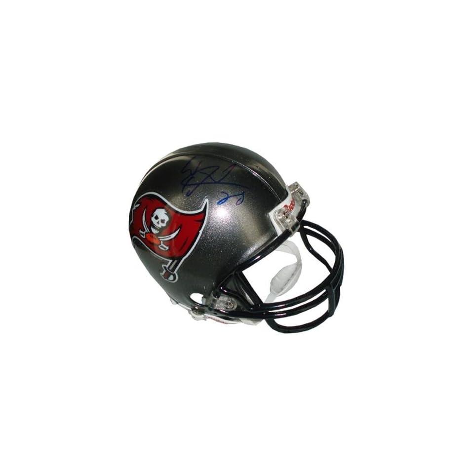 Warrick Dunn Autographed Mini Helmet   Autographed NFL Mini Helmets