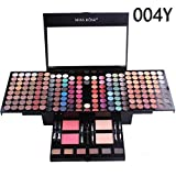 All in One Makeup Kit LTUI 180 Shiny Matte Color Waterproof Eye Shadow+Blush+Makeup Brush+Eyeline+Sponge+Compact Powder+Eyebrown+Mirror for Makeup N Daily Party Performance,Gift (A)