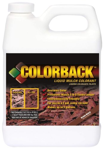 Colorback 192132 32-Ounce Liquid Colorant Concentrate, Brown Mulch