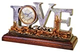 Antique looking Love Mantel clock collection, on stand vintage design retro elegant Home or office, Use on table, desktop, shelf, or Mantle - Perfect Valentines Day Gift