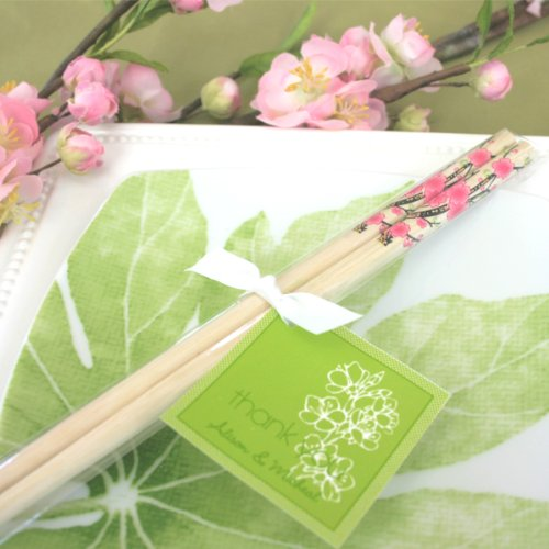Set of 100 Cherry Blossom Chop Sticks Wedding Favors