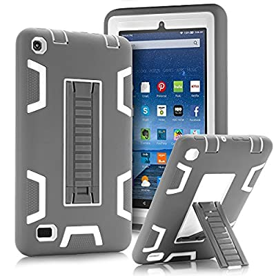 """TOPSKY Fire 7"""" (2015 release) Case,[Kickstand Feature],Shock-Absorption / High Impact Resistant Armor Defender Case For Amazon Fire 7 Inch Tablet,with Stylus by TOPSKY"""