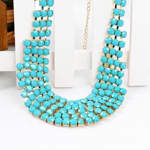 Fashion Punk Bead Metal Necklace