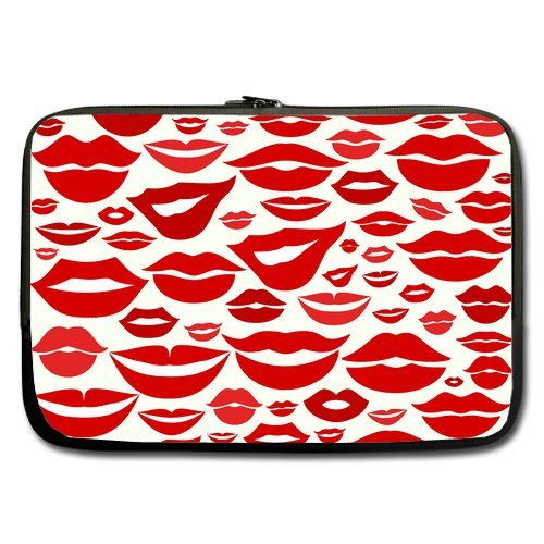 Anhome Swiss Design Woman Sex Red Lip Kiss Pattern Sleeve For Macbook Pro / Sleeve For Laptop / Notebook Computer / Macbook / Macbook Pro / Macbook Air 15'' front-1030383