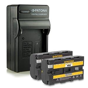 Nouveauté - 4en1 Chargeur + 2x Batterie comme NP-F550 pour Sony BC-V615 | DCM-M1 | DCR-TRU47E | MVC-CD1000 | PLM-100 | VCL-ES06A | CCD-TR (Hi8) Serie | CCD-TR1 | CCD-TR200 | CCD-TR215 | CCD-TR3 | CCD-TR300 | CCD-TR3000 | CCD-TR3300 | CCD-TR416 | CCD-TR500 | CCD-TR516 | CCD-TR517 | CCD-TR57 | CCD-TR555 | CCD-TR67 et bien plus encore...