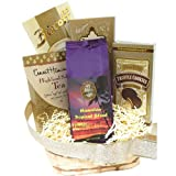 Kona Smooth Hawaiian Coffee Golden Gift Basket, Ground Coffee, for Christmas, All Occasions