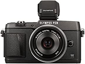 OLYMPUS ミラーレス一眼 PEN E-P5 17mm F1.8 レンズキット(ビューファインダー VF-4セット) ブラック E-P5 17mm F1.8 LKIT BLK