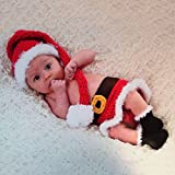 Feichen Newborn Girl Crochet Knitted Baby Outfits Costume Set Photography Photo Prop