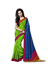 Fancy Charming Green Colored Printed Art Silk Saree By Triveni