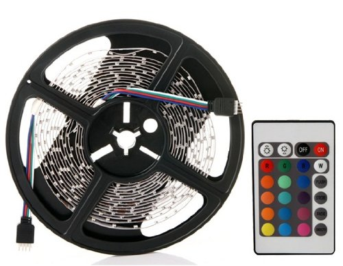 Wrui5M Rgb Smd 3528 300-Led Colorful Light With Remote Controller Save Lamps (Silver)
