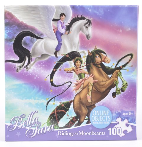 Bella Sara 100 Piece Puzzle - Riding on Moonbeams - 1