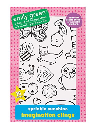 C.R. Gibson Imagination Sprinkle Sunshine Window Clings - 1