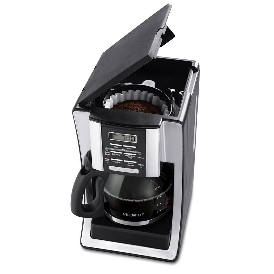 Coffee Maker Cleaning Mr Coffee : Amazon.com: Mr. Coffee BVMC-SJX33GT 12-Cup Programmable Coffeemaker, Chrome: Drip Coffeemakers ...