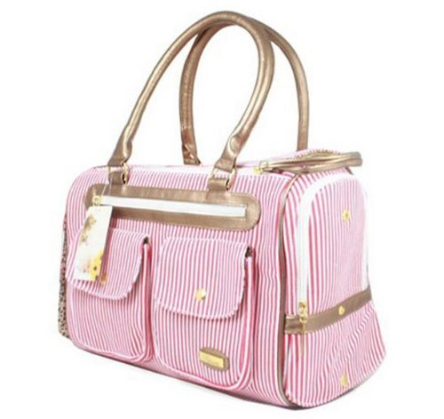 Worldeal Fashion Dog Carrier Dog Handbag Dog Purse Tote Bag Pet Cat Dog Hiking Backpack (Pink) front-97897