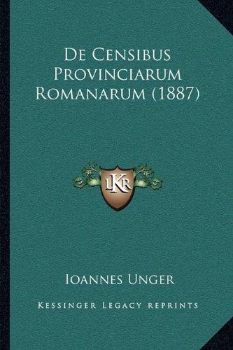 de Censibus Provinciarum Romanarum (1887)