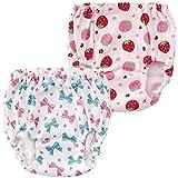 (チャックル) chuckle いちご&リボン柄ショーツ2枚組 ピンク 80cm W4070-80-20