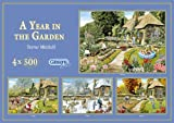 Gibsons Puzzle - A Year in the Garden (4x500 pieces)