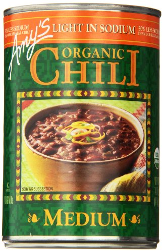 Amy's Light in Sodium Organic Chili,  Medium, 14.7 Ounce (Pack of 6) (Amy Organic Chili compare prices)