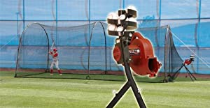 Real Ball Basehit Pitching Machine & 30