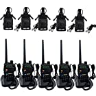 Retevis RT-5R 2 Way Radio 5W 128CH VHF/UHF 136-174/400-520 MHz DTMF/CTCSS/DCS FM Handheld Transceiver Ham Amateur Radio with Earpiece (5 Pack) and Multi-Function Radio Case Holder (5 Pack)