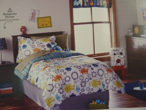 Sale Circo Modern Robots Collection 5 Piece Twin Bed Set