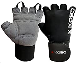 Kobo Weight Lifting Gloves / Fitness Gym Gloves With Wrist Support