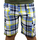 Boys Kids Multi Pocketed Checked Combo Cargo Shorts