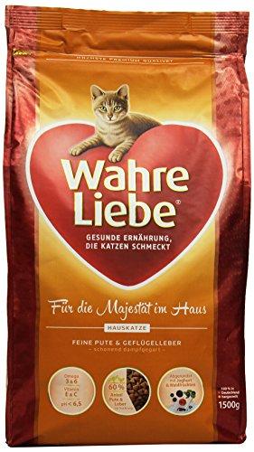 Wahre Liebe Katzenfutter Hauskatze, 1er Pack (1 x 1.5 kg Packung)